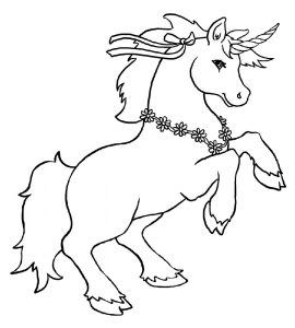 Unicorn Images Coloring Pages Pre School