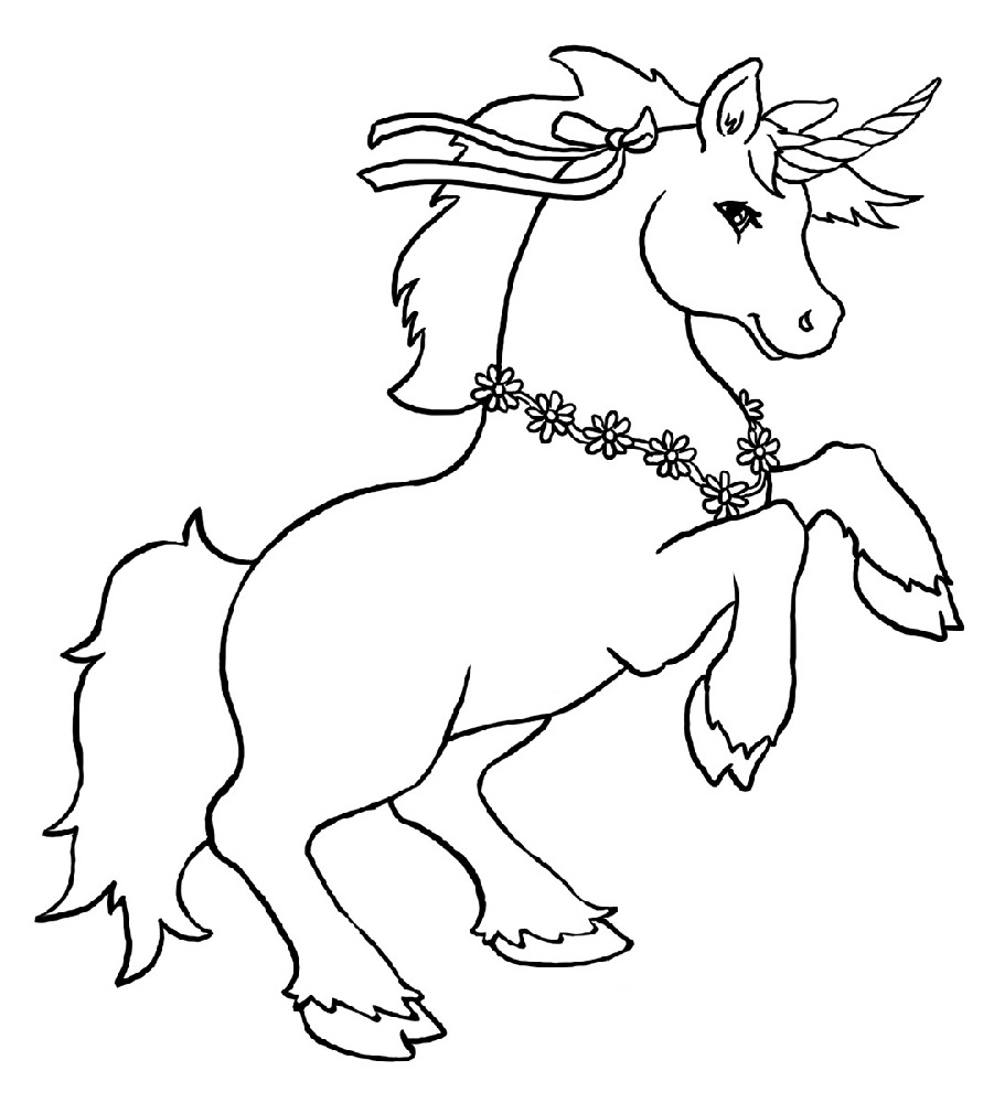 Remarkable Cute Unicorn Coloring Picture Ideas – Dabblehq | 1000x901