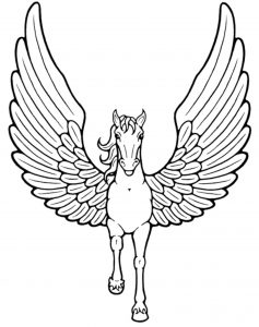 Unicorn Images Coloring Pages with Wings