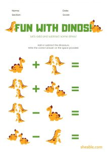 1st grade Math Addition Worksheets