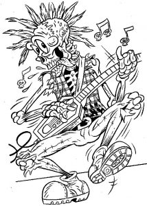 Halloween Skeleton Coloring Pages For Adults
