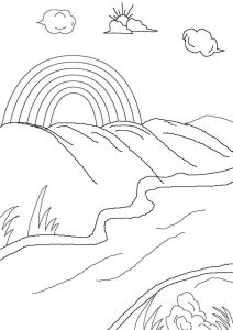 Rainbow Coloring Pages Printable Free