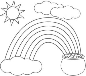 St Patrick's Day Rainbow Coloring Pages